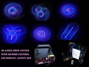 3d Mini Rgb Laser Show With Led Display