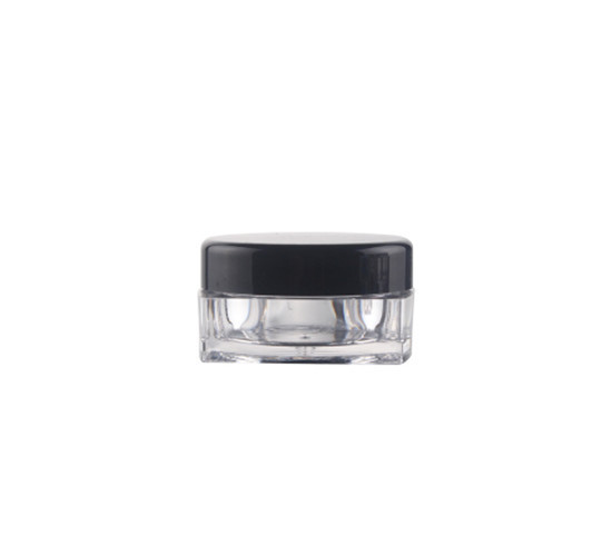 3g 5g Plastic Transparent Square Ps Jar Round Shape Cosmetic Face Cream