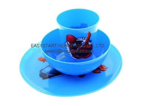3pcs Dinnerware Set Plastic