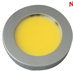 3w Cob Dia 55mm Led Surface Mounted Under Cabinet Puck Light
