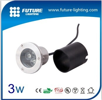 3w High Power Ip67 Waterproof Outdoor Led Recessed Inground Lamp