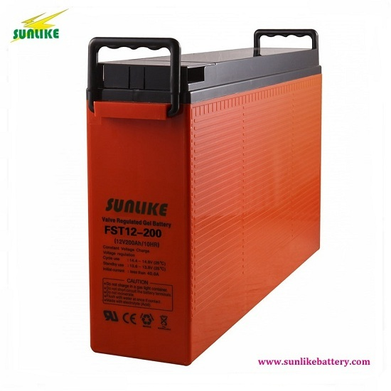 3years Warranty Front Terminal Telecom Battery 12v200ah For Projects