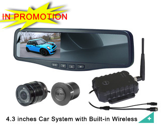 4 3 Inches Car Reversing Camera System With Built In Wireless Dw 144d Cw 63