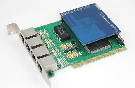 4 Channels Asterisk E1 T1 Digital Pci Card Ss7 Echo Cancellation