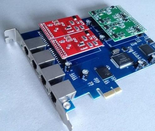 4 Port Asterisk Fxo Fxs Pci E Card Support Tribox Elastix Zaptel Dahbi