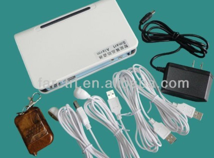 4 Port Security Alarm Host Sensor For Mobile Phone Display Remote Control