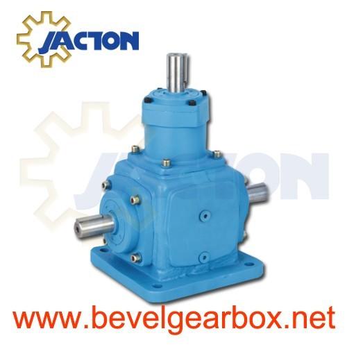4 Way Bevel Gearbox Ratio 1 3 Gear Spiral Box