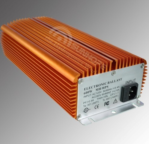 400w 600w 1000w Non Fan Cooled Dimmable Electronic Ballast For Hydroponics