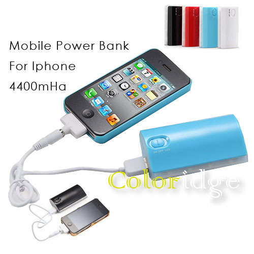 4400mah Mobile Power Bank For Ipad Iphone