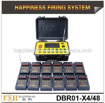 48 Channels Pyrotechnic Fire System 500 M Remote Control