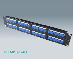 48 Port Rj45 Cat6 Utp Patch Panel Shuttered Nks 0102f 48p
