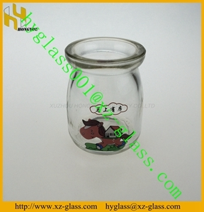 4oz Pudding Glass Bottle 100ml Jar