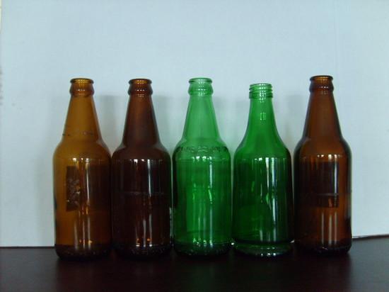 500ml Amber Green Beer Bottle