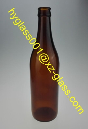 500ml Beer Glass Bottle Amber Crown Cap Bott