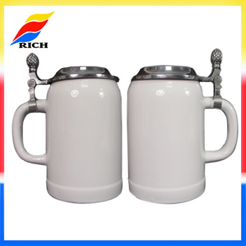 500ml Ceramic Beer Mug With Lid