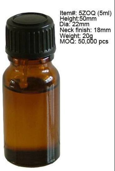 5ml Amber Glass Medicine Bottle