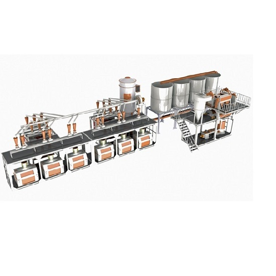 6 Roller Mills 90 100 Ton Day Capacity Compact Flour Factory