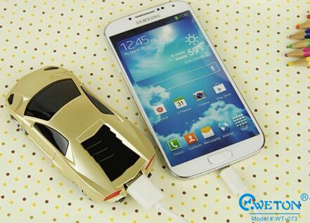 6000mah Gift Lamborghini Bmw Car Model Backup Power Bank For Smartphone Mp3