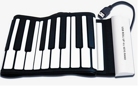 61keys Roll Up Silicone Piano