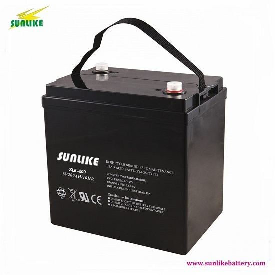 6v200ah Lead Acid Agm Battery With 3years Warranty For Solar Ups
