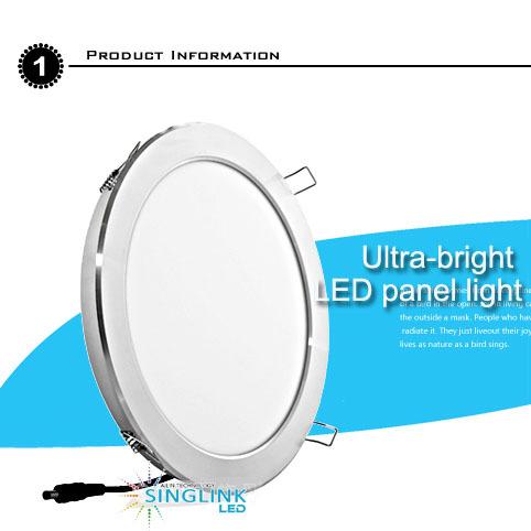 6w Circular Led Panel Light Warm White 85 260v 3000 3500k