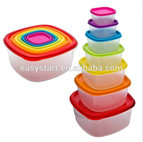 7 Pcs Always Fresh Plastic Food Storage Containers Set