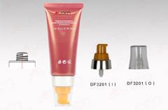 70ml Eco Colored Cosmetic Plastic Tube With Pump