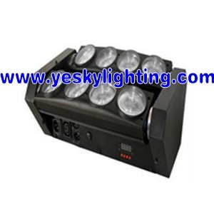 8 10w Rgbw Cool White Adj Professional Led Moving Head Beam Yk 139