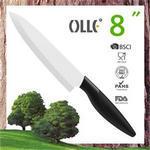 8 200mm Zirconia Blade Pure Black Olle Ceramic Knife