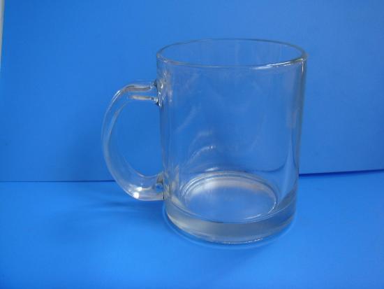 8oz Glass Handle Mug Cup