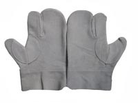 9 Grey Split Cowhide Leather Japanese Style Gloves