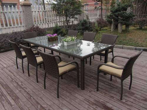 9pcs Garden Dining Set Outdoor Patio Furniture
