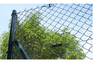 A Chain Link Fence Also Referred To As Wire Netting Cyclone Or Hurricane Is