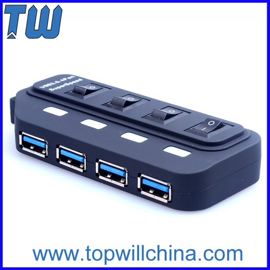 Abs 4 Ports Usb 3 0 Hub True Speed Without Extra Power