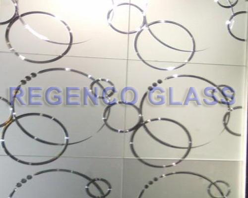 Acid Etched Patterned Glass