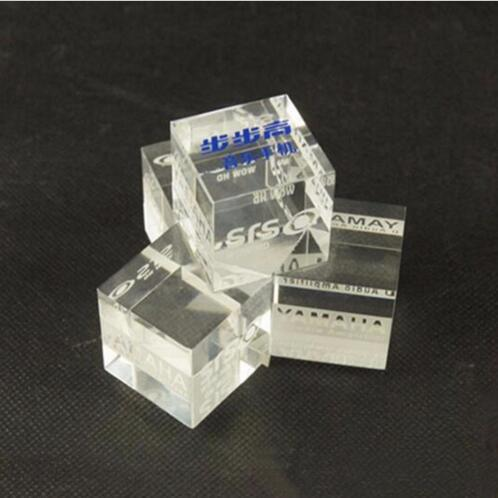 Acrylic Material And Cube Style Mobile Phone Logo Display Block