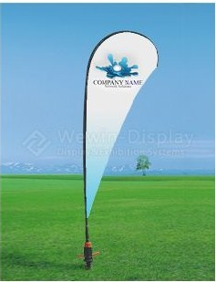 Advertising Beach Flag Rotating