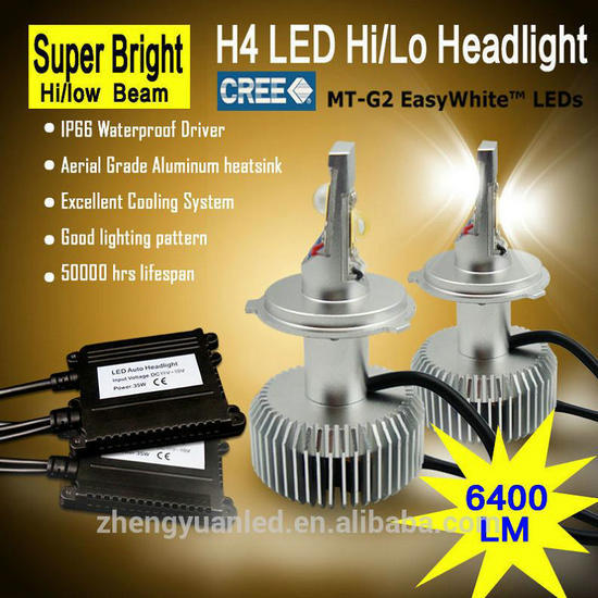 Affordable 6400lm Led H4 H7 Car Headlight Kits Xenon Toyota Corolla Replace