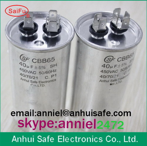 Air Conditioner Capacitor Cbb65 40uf 450vac Low Voltage For Running Of Ac S
