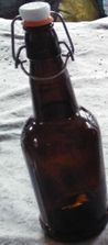 Amber Recycled Beer Glass Bottle With Swing Top Lid Wholesale