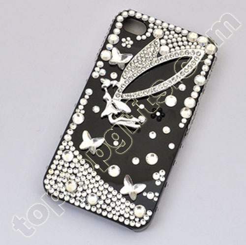 Angle Rhinestone Iphone4 Shell Cover