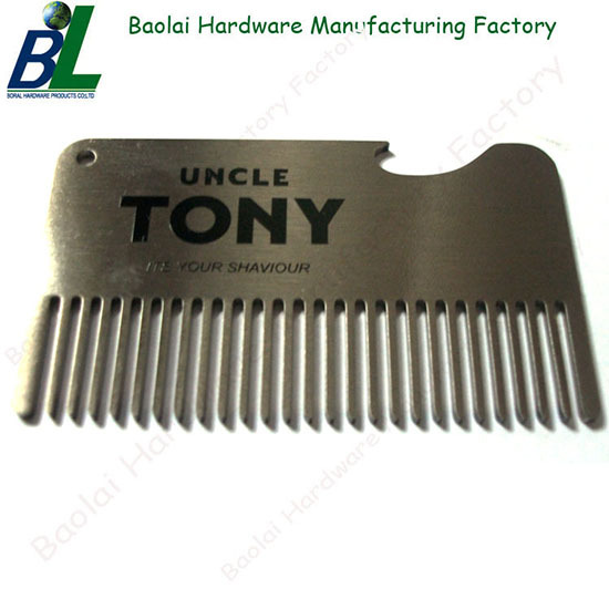 Antique Pocket Card Beard Comb With Bottle Opener