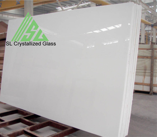 Artificial White Crystallized Glass Slab