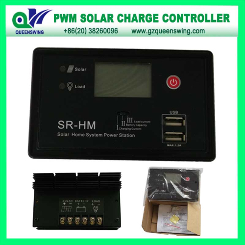 Auto12v 24v 20a Pwm Solar Charge Controller With 2 Usb Port