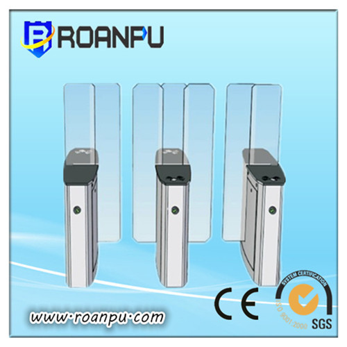Automatic Bridge Type Flap Turnstile With A Pass Speed Of 40 Persons Minute