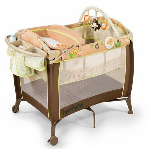 Baby Playpen Travel Cot Play Yard Foldable