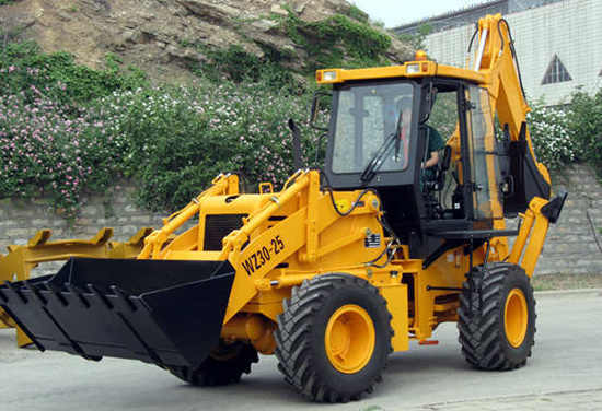 Backhoe Loader With 1 M3 Bucket And 0 3 For Construction Farm Road