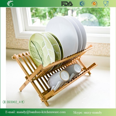 Bamboo Dish Drying Rack Kitchen Crafts