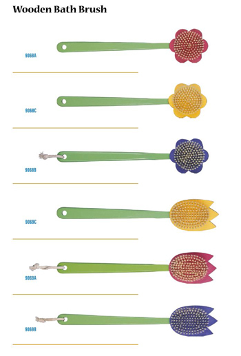 Bath Brushes With Different Shape Designs Andmaterials
