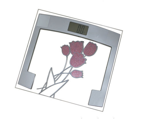 Bathroom Scales With Led Screen And Flower